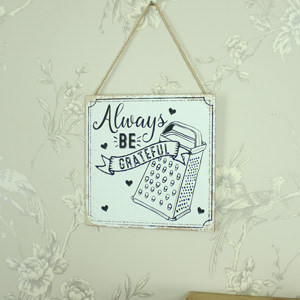 'Always Be Grateful' Hanging Wall Plaque