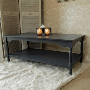 Anastasia Range - Dark Grey Coffee Table