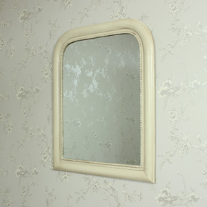 Antique Cream Curved Wall Mirror