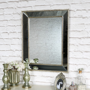 Antique Gold Mirror with Speckled Finish