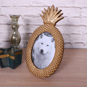 Antique Gold Pineapple Photograph Frame