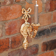 Antique Style Heavily Distressed Wall Candle Sconce