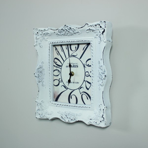 Antique White Ornate Wall Clock