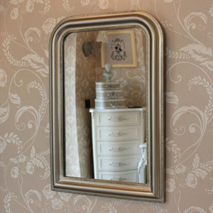 Curved Edge Silver Wall Mirror