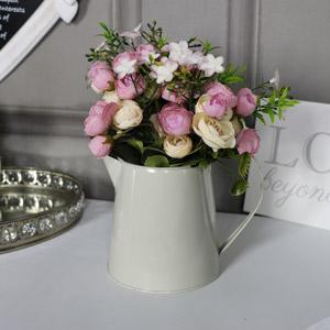 Artificial Rose Arrangement in Small Cream Jug