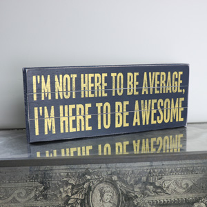 'Awesome' Rustic Wooden Box Plaque
