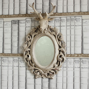 Baroque Stag Head Wall Mirror