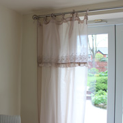 Cotton Embroidered Vintage Style Curtains (pair)