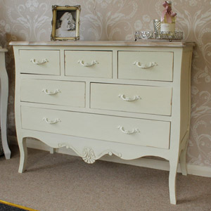 Belfort Range - Cream 6 Drawer Chest of Drawers