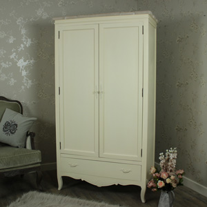 Belfort Range - Cream Double Wardrobe