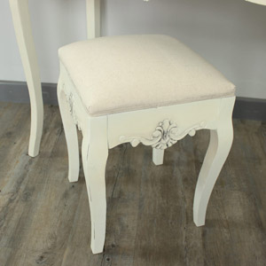 Belfort Range - Cream Padded Dressing Table Stool