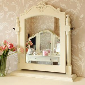Cream Swing Dressing Table Mirror - Belfort Range 54cm x 39cm
