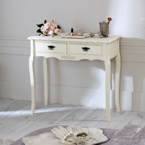 Belgravia Range   Cream 2 Drawer Console Table