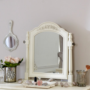 Cream Swing Dressing Table Vanity Mirror - Belgravia Range