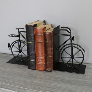 Black Bicycle Bookends