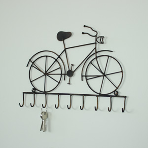 Black Bicycle Vintage Wall Hooks