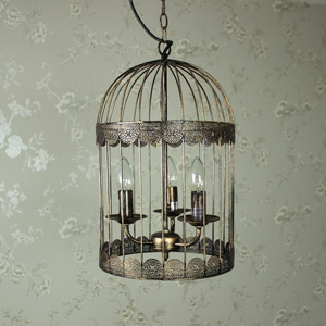 Black Birdcage Chandelier