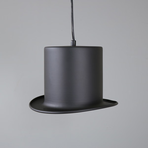 Black Bowler Hat Pendant Light