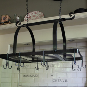 Black Hanging Pan Rack