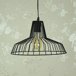 Black Wire Industrial style Ceiling Light fitting