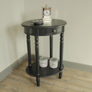 Black oval occasional/side Table