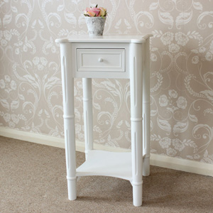 White Bedside Table - Blanche Range