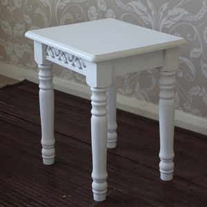 White Dressing Table Stool - Blanche Range