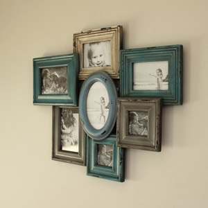 Blues & Greys Multi Wall Photograph Frame