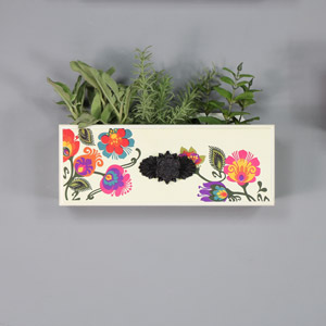 Boho Cream Box Style Wall Shelf