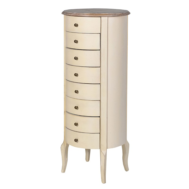 Bordeaux Range - Round Tallboy Chest of Drawers