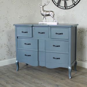 Boudoir Grey Range - Five Drawer Chest of Drawers SECONDS ITEM 8007