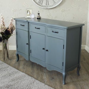Boudoir Grey Range - Large Three Drawer Sideboard