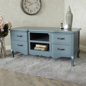 Boudoir Grey Range - Large TV Cabinet with Drawers