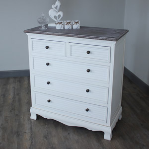 Brittany Range - White Chest of Drawers