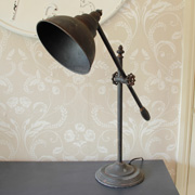 Rustic aged style  Counter Balanced Desk Lamp