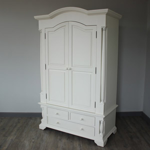 Canterbury Range - Cream Wooden Double Wardrobe