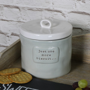Ceramic Grey Biscuit Jar