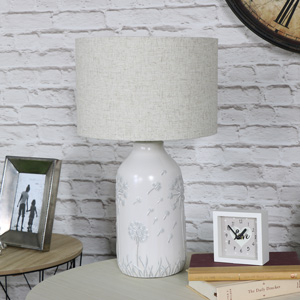 Ceramic White Dandelion Table Lamp