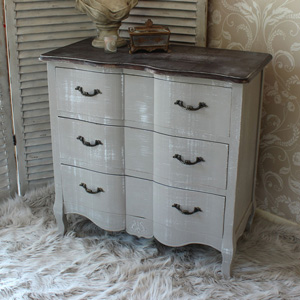 Chest of Drawers - French Grey Range SECONDS ITEM 0057