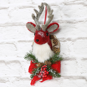 Christmas Hanging Deer Head