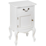 Classic White Left Hand Bedside Table