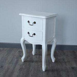 Classic White Range - 2 Drawer Bedside Table