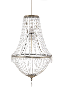 Clear Glass and Acrylic Beaded Chandelier
