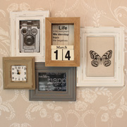 Collage Photo Frame with Clock And Calendar