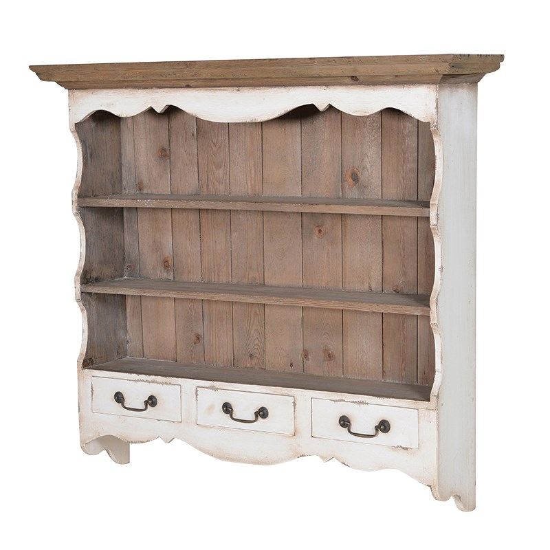 Colonial Range - Wall Shelf with Drawers