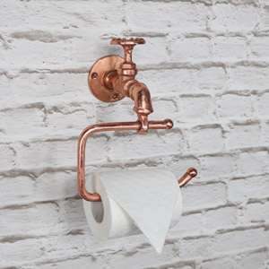 Copper Metal Tap Toilet Roll Holder