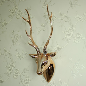 Copper Stag Head Wall Decoration