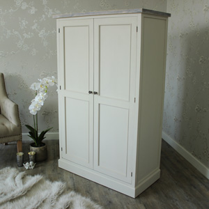 Large Grey Wardrobe Linen Closet Storage - Cotswold Range
