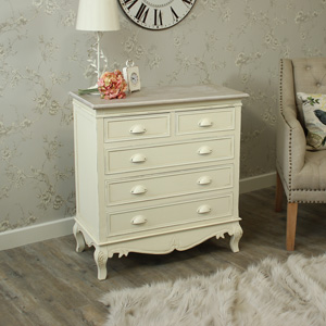 Country Ash Range - Cream 5 Drawer Chest of Drawers