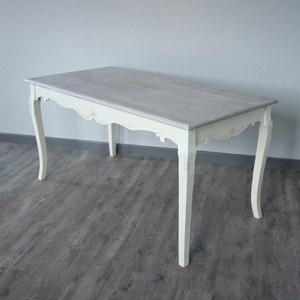 Cream Large Dining Table - Country Ash Range SECONDS DAMAGED ITEM 7686